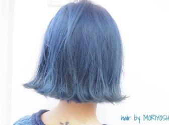 短发染发流行趋势 甘蓝牛仔蓝水彩蓝